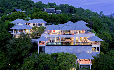 Villa Baan Paa Talee Night Time Lights