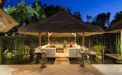 Villa Water Pavilion At Night