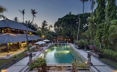 Villa Pool At Dusk