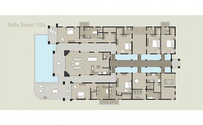Bella Beach Villa Floor Plan