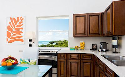 Kitchen With Beach Views