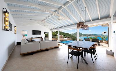 Vacation Rental St Barthelemy WV CLV Villa St Barts Villa CLVdin Desktop