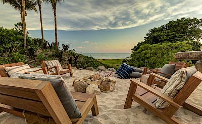 Firepit Sand Terrace Sunset