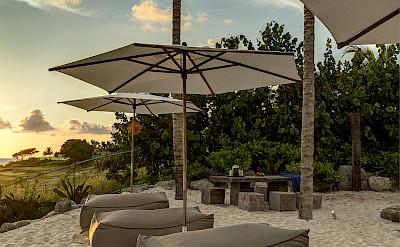 Sitting Area Sand Terrace Sunset