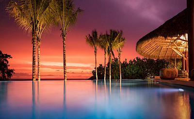 Pool Palapa Sunset