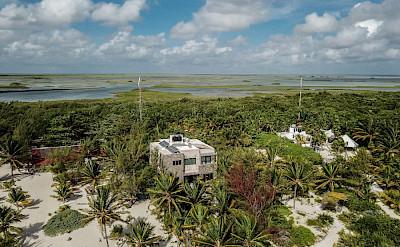 Casa Maya Kaan Tulum Drone Lagoon
