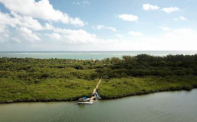 Casa Maya Kaan Tulum Lagoon Drone