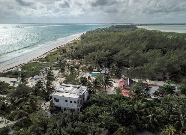 Casa Maya Kaan Tulum Ocena Lagoon Drone 2