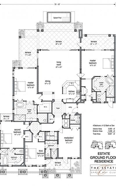 Estate Four Bedroom Beach Level Residence 1