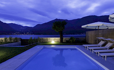 Gelso Pool At Night