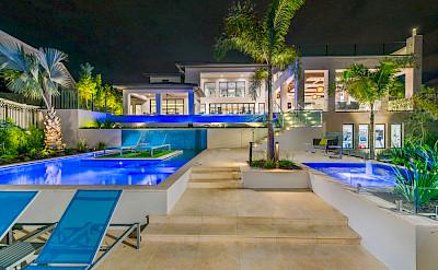 Villas Rear Elevation Evening 2
