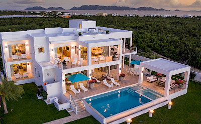 Villa Pool Aerial