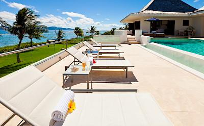Le Bleu Sunbathing Terrace Looking West
