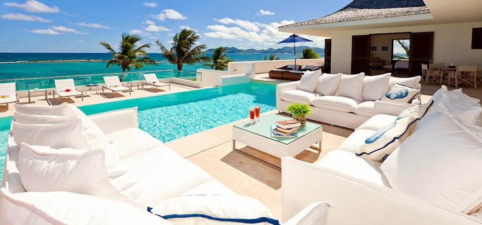 Le Bleu Main House Seating Area And Pool