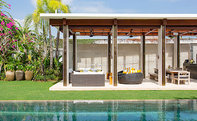 Villa Pool And Outdoor Living Area