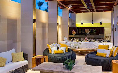 Villa Outdoor Living Area At Night