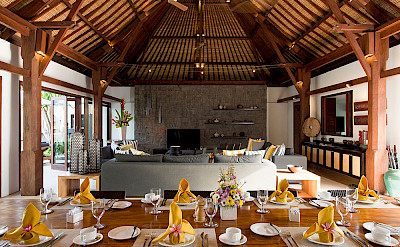 Villa Indoor Dining View To Living Area