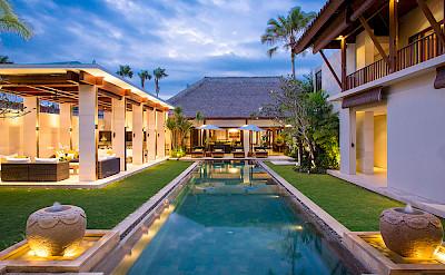 Villa The Villa Lit Up