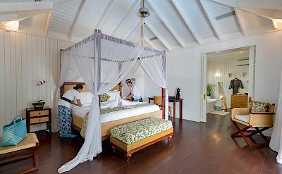Villa Master Bed Being Made