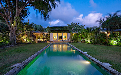 Lrg Pool To Villa Night