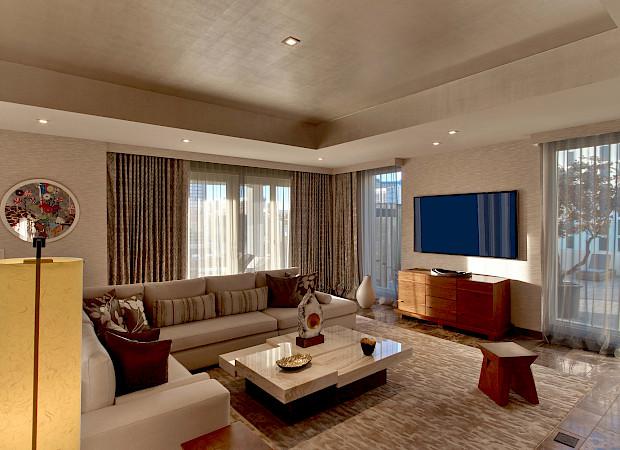 Nobu+Villa Nobu+Hotel+Caesars+Palace Living+Room