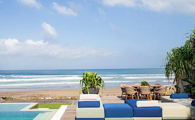 Noku Beach House Pool And Open Air Seating Area