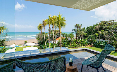 Noku Beach House Terrace From Guest Bedroom With Beach View