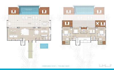 Be North Shore Floorplan 4 Bedroom Ocean View Villa 9