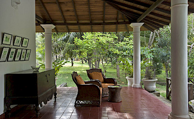 Veranda Seating With Garden View