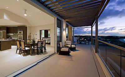 New Penthouse Terrace Dusk