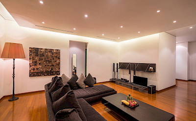 Spacious Living Area At Night