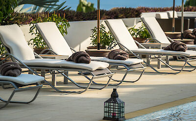 Sun Lounger By The Pool