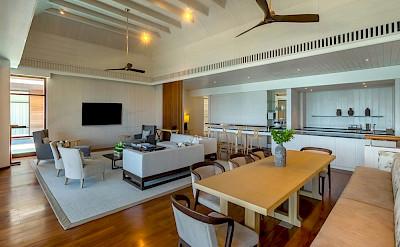 Park Hyatt St Kitts Presidential Villa Living Dining Kitchen