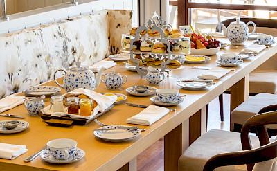 Park Hyatt St Kitts Presidential Villa Indoor Dining Afternoon Tea