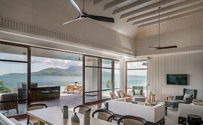 Park Hyatt St Kitts Presidential Villa Dining Living Room