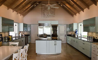 Jumby Bay Island Private Residences Sandpiper Beach House Kitchen 4