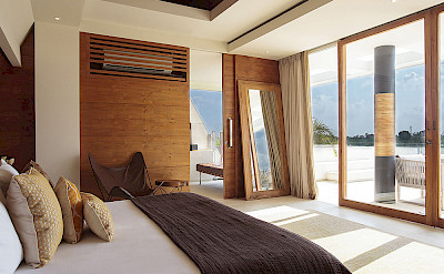 The Iman Villa Master Bedroom View To The Deck