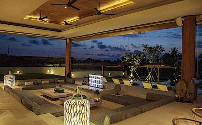 The Iman Villa Living Area At Night