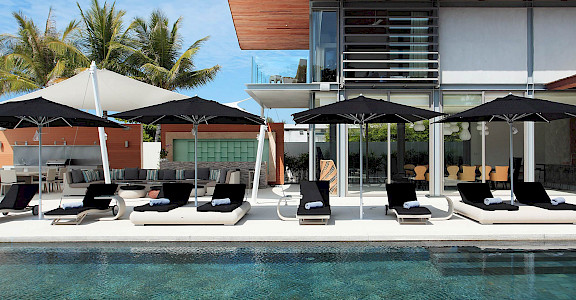 Villa Sun Loungers By The Pool