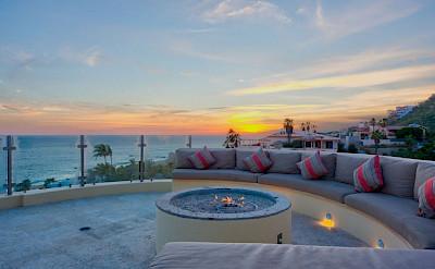 Ce Big Firepit At Sunset