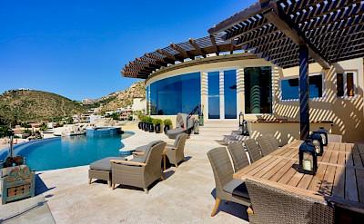 Ce Upper Terrace Outdoor Dining Pool Jacuzzi Looking Toward Big Window
