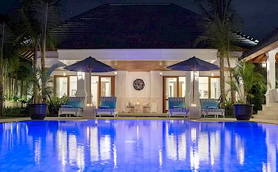 Villa Windu Asri Pool At Night