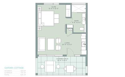 Belb Floorplan Cottages One Bed