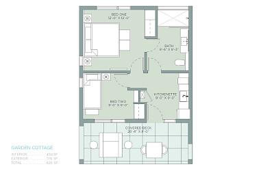 Belb Rentals Floorplan Cottages Two Bed