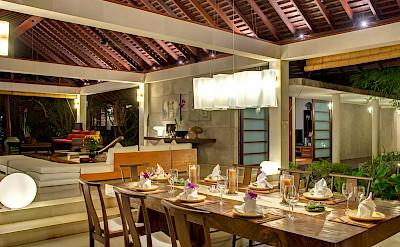 +Samadhana+ +Living+and+dining+pavilion+at+night