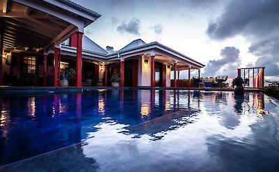 Eden Rock Villa Rental Pool Night