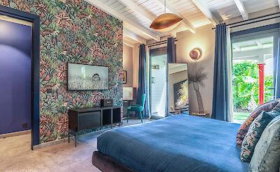 Eden Rock Villa Rental Blue Bedroom 2 Jeanne Le Menn