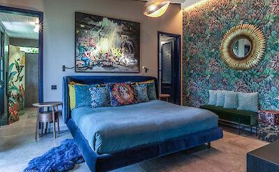 Eden Rock Villa Rental Blue Bedroom Jeanne Le Menn