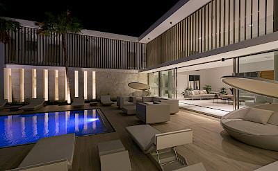 Pool Nightime View