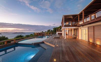 Eden Rock Villa Rental Villa Night Pool 3
